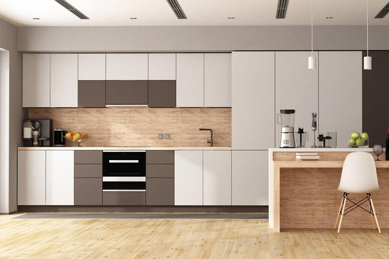 Tủ bếp màu trung tính