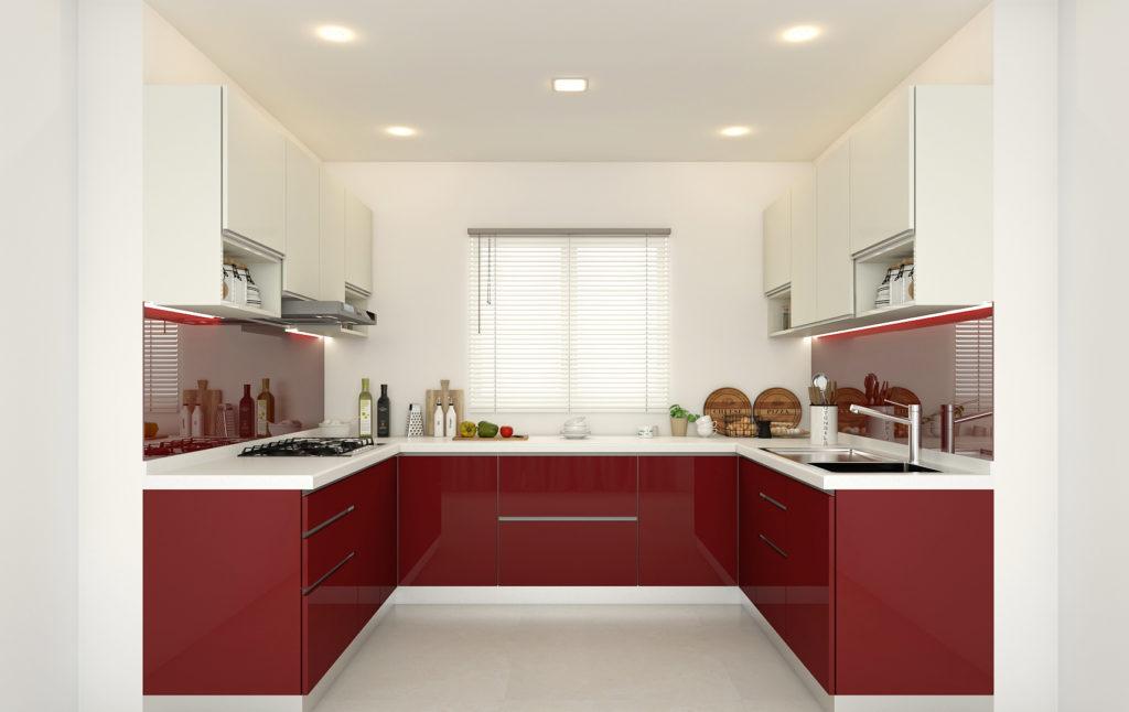 Tủ bếp Acrylic bóng gương sang trọng