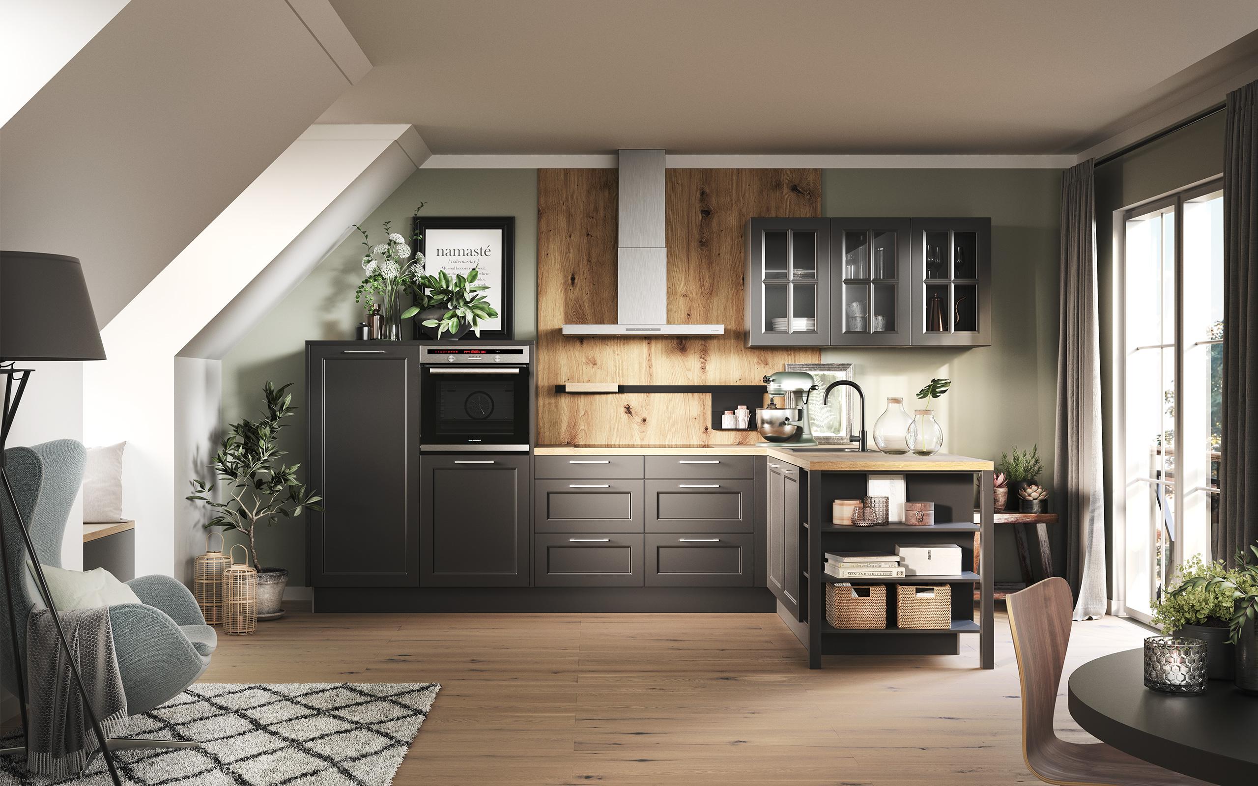 Hệ tủ bếp nhiều ngăn chứa thông minh và hiện đại