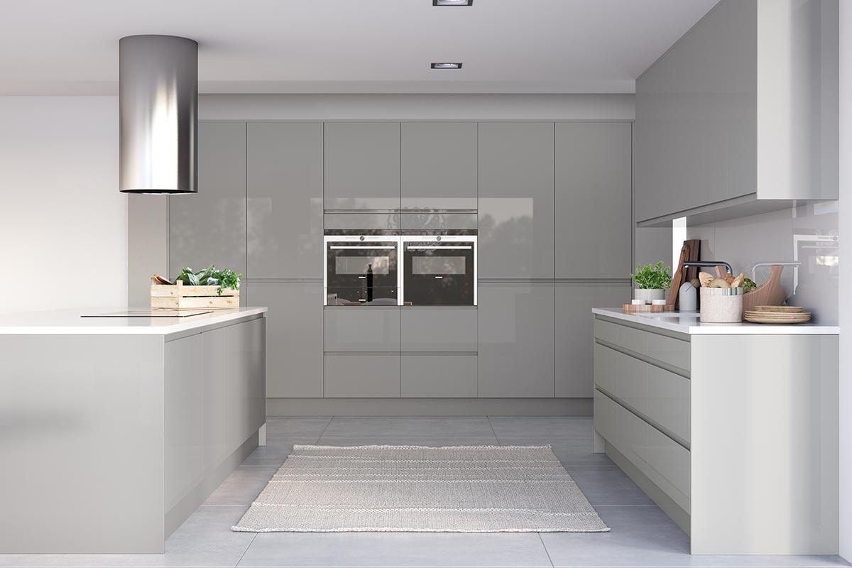 Thiết kế tủ bếp song song hiện đại