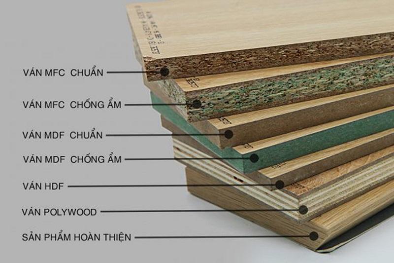 Các chất liệu sử dụng làm tủ bếp đẹp và bền