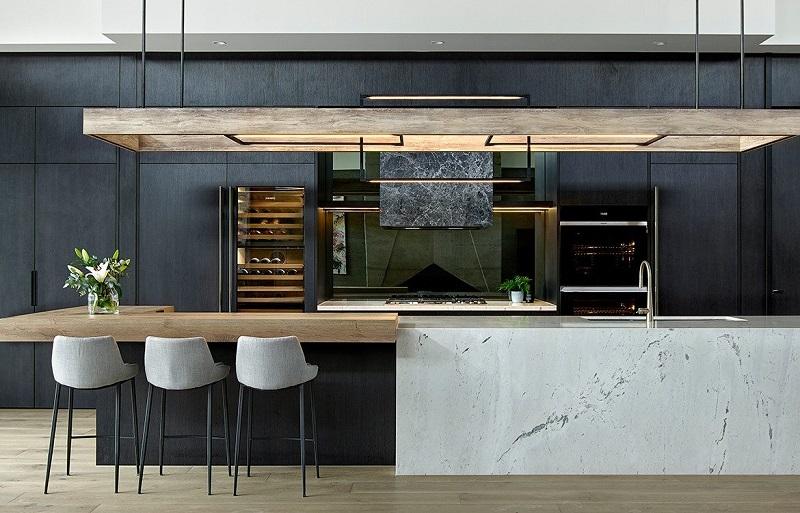 Tủ bếp đẹp bền bằng gỗ công nghiệp có chất lượng cao