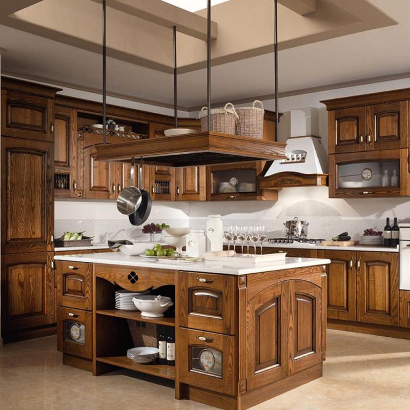 Chất liệu gỗ tự nhiên để gia công tủ bếp đẹp bền