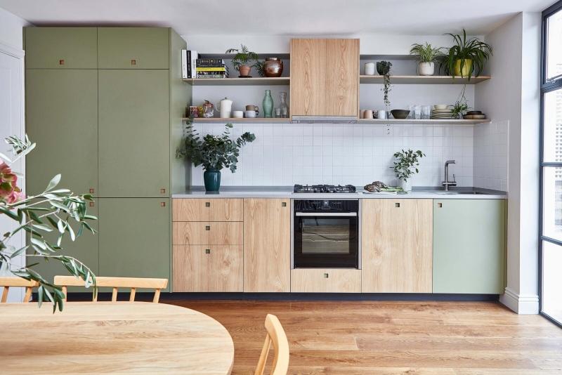 Tủ bếp gỗ công nghiệp đẹp