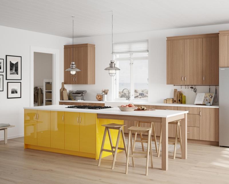 Thiết kế tủ bếp gỗ đẹp