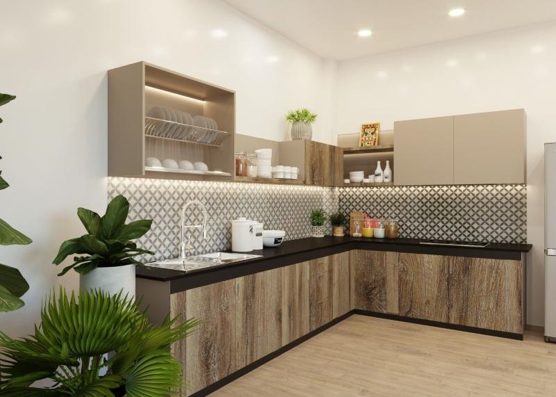 Tủ bếp Melamine đẹp