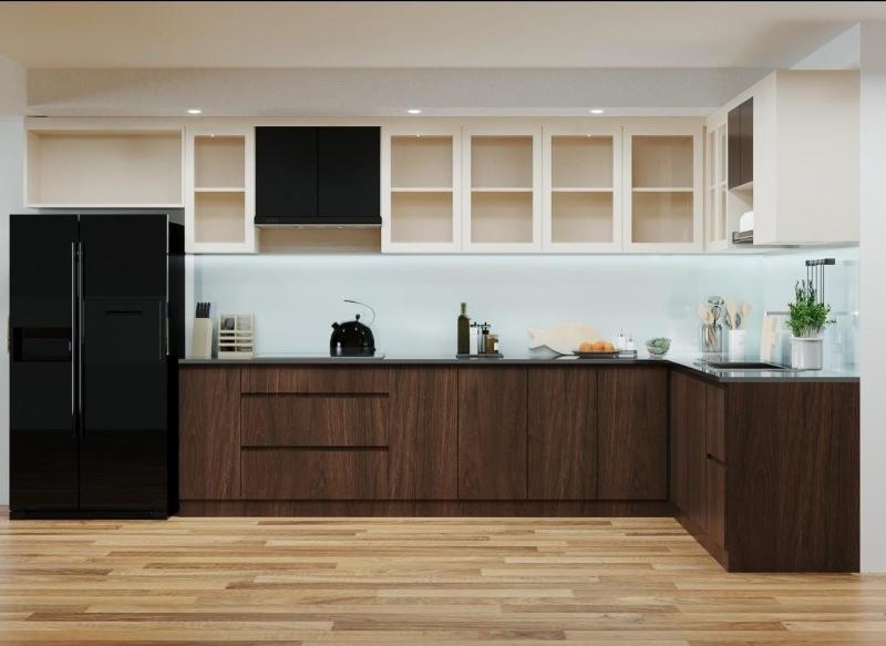 Tủ bếp đẹp công nghiệp