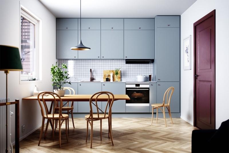 Tủ bếp đẹp giá rẻ với thiết kế kịch trần hiện đại