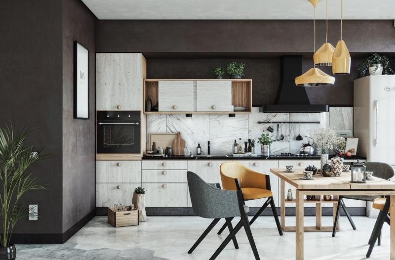 Không gian nấu nướng được bố trí tự do nhưng vô cùng ngăn nắp