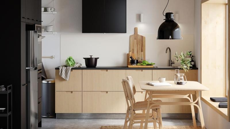 Mẫu tủ bếp đẹp giá rẻ chữ I đơn giản