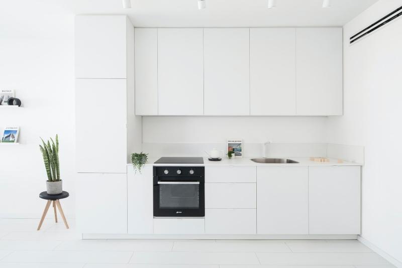 Tủ bếp Laminate chữ I đơn giản