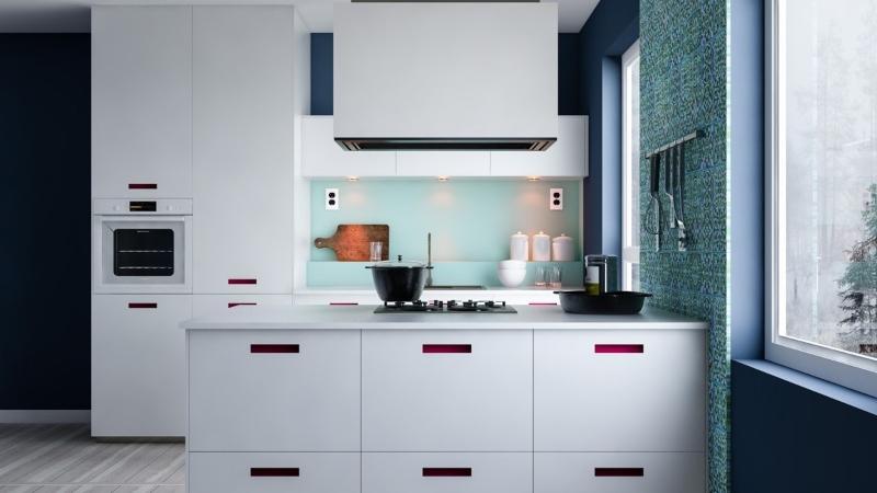 Các khu vực chức năng trong bếp được bố trí khoa học